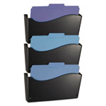 Officemate 2200 Series Wall File System, Letter, Black, 3/Pack