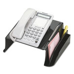 "Officemate telephone stand with storage area, 12 1/2"" x 10 1/2"" x 5 1/8"" bk"