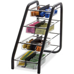 Officemate Condiment Holder, Vertical, 4 Trays, Non-skid, 8.5x15.8x7.7, BK