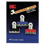 "Officemate Bulldog Clip, 1-1/4"", Assorted Colors"