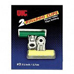 "Officemate Bulldog Clip, 2-1/4"", Assorted Colors"