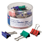 Officemate Binder Clips, Medium, Green, White, Yellow, Blue, Red