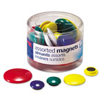 Officemate Magnets For Metal Presentation Board/File Cabinets, Assorted