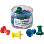 Officemate Giant Push Pins, For Visual Impact , Assorted Colors