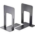 "Officemate Nonskid Steel Bookends, 5 7/8""x8 3/16""x9, Black"