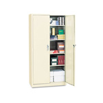 "Office Impressions Design Assembled Storage Cabinet, 72""-High, 36"" x 18"", Putty"