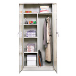 "Office Impressions Design Assembled Combo Wardrobe/Storage Cabinet, 36""x18""x72"", Gray"
