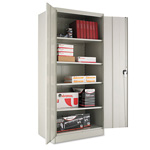 "Office Impressions Design Heavy-Duty Steel Storage Cabinet, 36""x24""x78"", Gray"