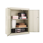 "Office Impressions Design Assembled Storage Cabinet, 42""-High, 36"" x 18"", Putty"