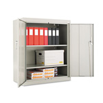 "Office Impressions Design Assembled Storage Cabinet, 42""-High, 36"" x 18"", Gray"