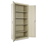 "Office Impressions Design Assembled Storage Cabinet, 78""-High, 36"" x 18"", Putty"