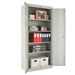 "Office Impressions Design Assembled Storage Cabinet, 78""-High, 36"" x 18"", Gray"