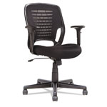 Alera Eikon Series Swivel/Tilt Mesh Task Chair, Black Arms/Base