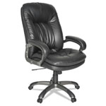 OIF Executive High-Back Swivel/Tilt Leather Chair, Black