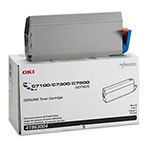 Okidata Toner CartridType C4 for C7100, C7300, C7500 and others, Black
