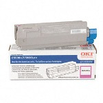 Okidata Laser Toner Cartridge, High Capacity, for C5500/5800, Magenta