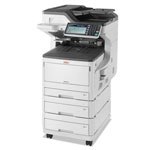 Okidata MC873DNX Multifunction, Floor Model with Cabinet, Copy/Fax/Print/Scan