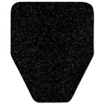 WizKid Antimicrobial Urinal Mat, 17 x 20 1/2, Black