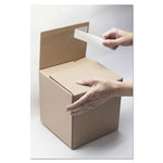 EasyBOX Self-Sealing Shipping Boxes, 4l x 4w x 4h, Brown Kraft, 8/Carton
