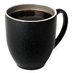 Office Settings Bistro Mugs, 15 oz, Charcoal, Ceramic