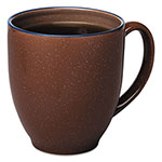 Office Settings Bistro Mugs, 15 oz, Chocolate, Ceramic