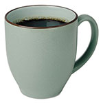 Office Settings Bistro Mugs, 15 oz, Sea Foam Green, Ceramic