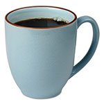 Office Settings Bistro Mugs, 15 oz, Slate Blue, Ceramic