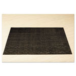 Office Settings Placemats, 17 x 12, Black, 8/Box