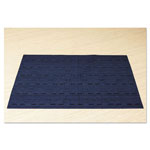 Office Settings Placemats, 17 x 12, Blue, 8/Box