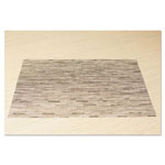 Office Settings Placemats, 17 x 12, Oatmeal, 8/Box