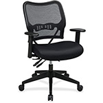 "Office Star Air Grid Back Chair, Adjust, 19-1/2"" x 20"" x 19"", Black"