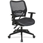 "Office Star Air Grid Seat/Back Chair, 20"" x 20"" x 19"", Black"