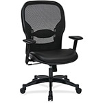 "Office Star Professional Managers Chair, 20"" x 19-1/2"" x 24-1/2"", Eco Leather/BK"
