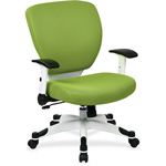 "Office Star Deluxe Task Chair, 26"" x 26-3/4"" x 38"", Green"