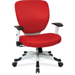 "Office Star Deluxe Task Chair, 26"" x 26-3/4"" x 38"", Red"