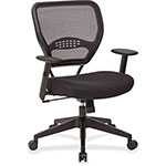 "Office Star Airgrid Back Manager Chair, 26-1/2"" x 26-1/4"" x 42"", Black"