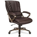 Office Star Eco Leather High Back Executive Swivel/Tilt Chair, Espresso/Cocoa