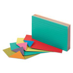 Oxford Extreme Index Cards, 3 x 5, Vivid Assorted, 100/Pack