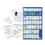 "Pacon Blue Classroom Management Pocket Chart with Cards, 23 3/4"" w x 40 3/4"" h"