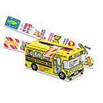 Pacon Big School Bus Reward Stickers, 1 x 1 1/4, 24 Designs, 800 Stickers, 6/Pack
