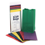 Pacon 6# Kraft Bags, Assorted