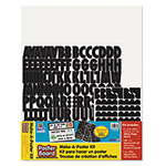 "Pacon Make-A-Poster Foam Board Kit, 22""x28"", WE/BK"