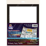 "Pacon Self Adhesive Project Paper, 8-1/2""x11"", 8SH/PK, Black"