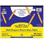 "Pacon Multi-Program Pic Story Tablet, 9"" x 12"", 40Sheets, WE"
