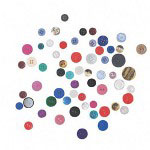 Pacon Assorted Craft Buttons, 1 Lb, Assorted Colors