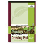"Pacon Drawing Paper Pad, 60 lb., 12""x18"", 24 Sheets, White"
