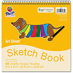 "Pacon Sketch Book, 9"" x 9"", 40SH/PD, White"