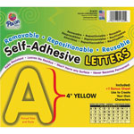 Pacon Yellow, Self-Adhesive Removable Letters, 4""