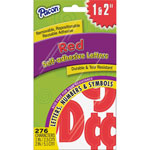 "Pacon Self Adhesive Letters, 1""-2"", 276 Char, 12/PK, RD"