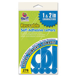 "Pacon Self Adhesive Letters, 1""/2"", 276 Characters, Blue"